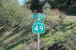 roadsign van de California 49
