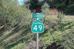 roadsign van de California 49