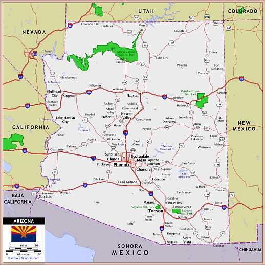 arizona kaart