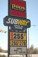 bord benzineprijzen