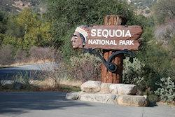 entrance to sequioa NP