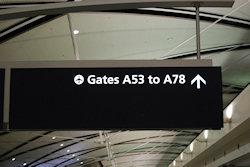 sign at the airport