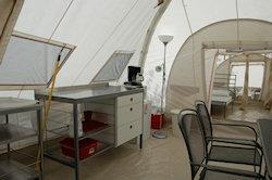 het leefdeel van de tent