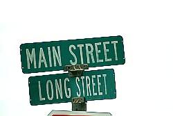 hoofdstraat in elk Amerikaans plaatsje
