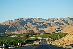 De weg vanuit Bakersfield