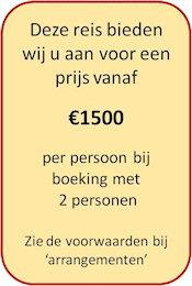 De prijs voor deze tour is vanaf €1500