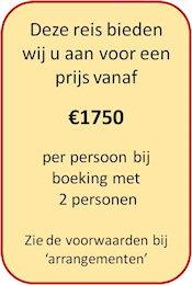 De prijs voor deze tour is vanaf €1750