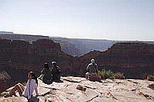 uitkijken over de grand canyon