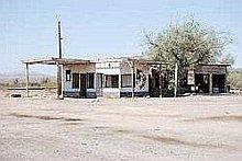tankstation in de desert