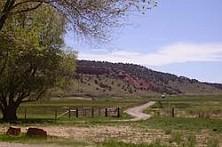 oprit van de ranch