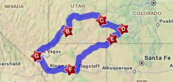 beeld van de route